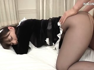 japanese pantyhose maid sex..