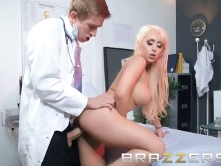 Busty Blonde Patient Gets A..